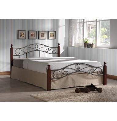 Кровать Глэдис М (120х200) (коричневый бархат)