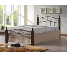 Кровать Глэдис М (90х200) (Металлическое основание/Коричневый бархат))