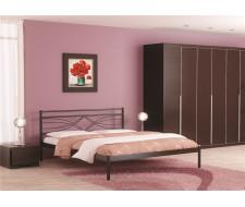 Кровать Мираж (120х200/металлическое основание) Коричневый бархат