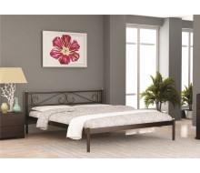 Кровать ШАРМ (120х200/металлическое основание) Коричневый бархат