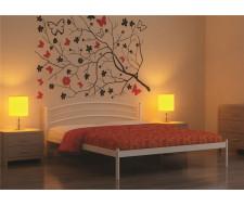 Кровать односпальная ЭКО+ (90х200/металлическое основание) Бежевый