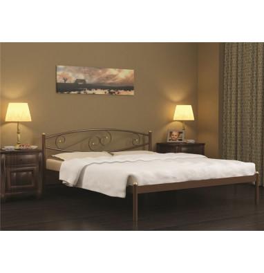 Кровать Волна (120х200/металлическое основание) Бежевый