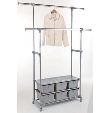 Стойка для одежды с 6 ящиками 45-616