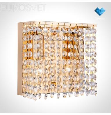 Настенные светильники Бра 10062/2 золото/прозрачный хрусталь Strotskis
